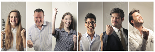Jubilant people Canvas Print
