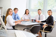 Businesspeople in a meeting at office