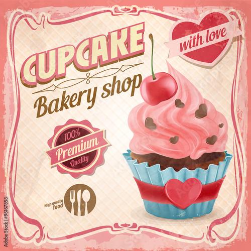 In de dag Kinderkamer cupcake love retro