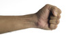 Knockout Fist / High resolution image of human fist against white background, Can be used in vertical orientation too.
