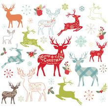 Christmas Reindeer Design Elements