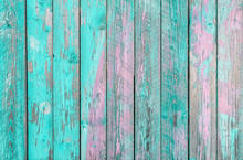 Aquamarine And Purple Wooden P...