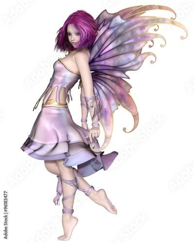 Pretty Purple Fairy - fantasy illustration Fototapet