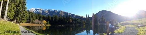 Fotografia, Obraz panoramique lac des mines d'or - Morzine
