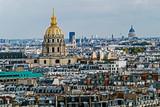 Widok z lotu ptaka Invalides Dome, Paryż, Francja - 96188269