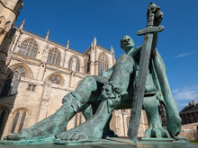 Statue Of Constantine The Great Outside York Minster