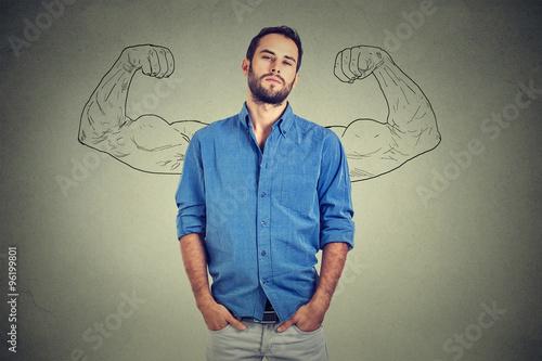 Strong man, self confident young entrepreneur Canvas Print