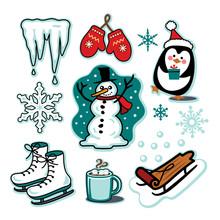 Snowman Winter Fun Illustratio...