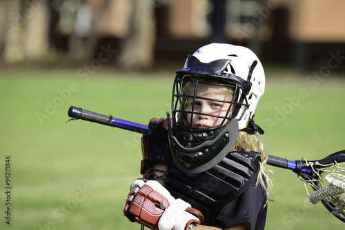 Fotografiet  Little Lacrosse Goalie