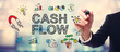 canvas print picture - Businessman drawing Cash Flow concept