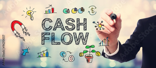 Fotografía  Businessman drawing Cash Flow concept