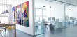 canvas print picture - Office Conception (panoramic)