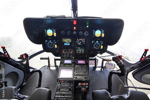plakat Modernes Hubschrauber Cockpit