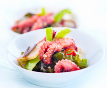 Japanese Salad With Octopus An...