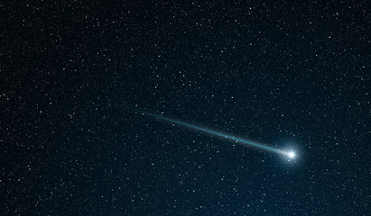 shooting star going across the star field