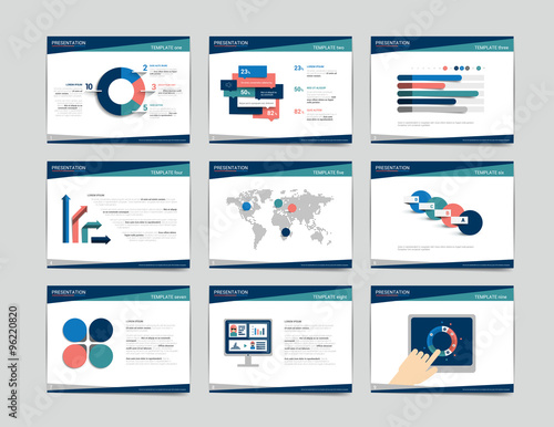 9 Presentation Business Templates Infographics For Leaflet Poster