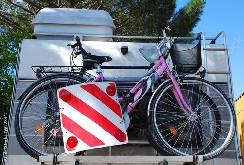 Two Bikes on a Motorhome Bike Rack - Buy this stock photo