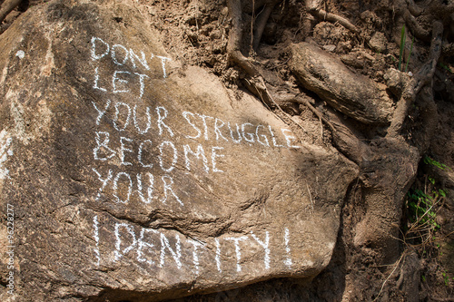 Don´t let your struggle become your identity Canvas Print