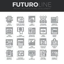 Web Development Futuro Line Icons Set