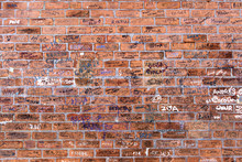 Random Names Written On Brick ...