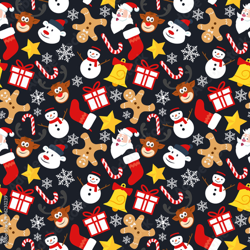 Cotton fabric Christmas Seamless Vector Pattern 3