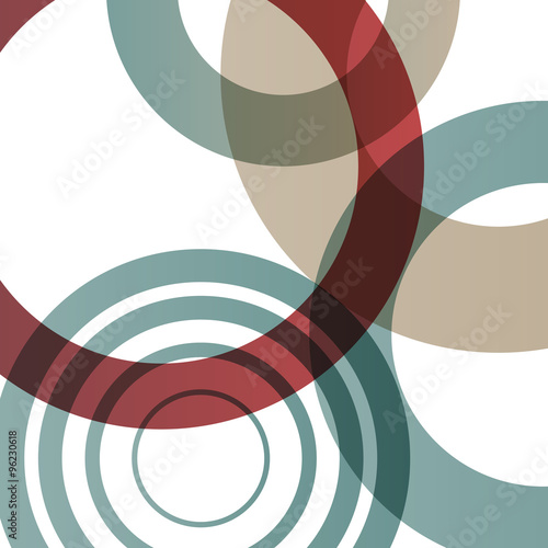 Naklejka dekoracyjna Abstract shapes vector background colorful bubbles