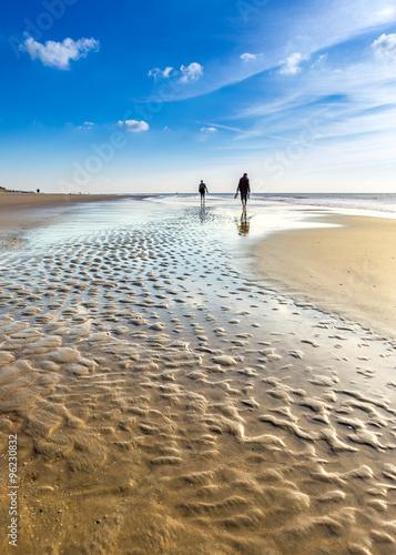 Spoed Foto op Canvas Noordzee Nordsee Spaziergang-North sea-Germany
