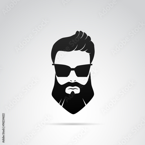 Fotografie, Obraz  Beard VECTOR icon.