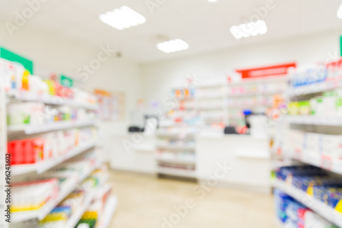 pharmacy or drugstore room background