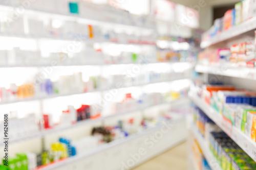 Photo sur Toile Pharmacie pharmacy or drugstore room background
