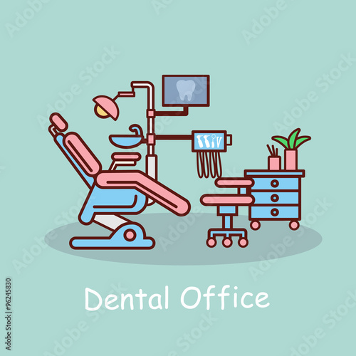 cartoon dental office Canvas-taulu