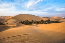 Hucachina Oasis In Sand Dunes Near Ica, Peru