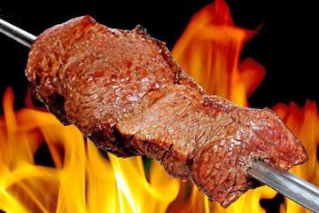 Panel Szklany Do steakhouse Churrasco dans un restaurant au Brésil