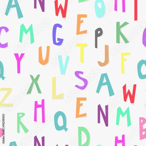 Alfabet dla dzieci wzór