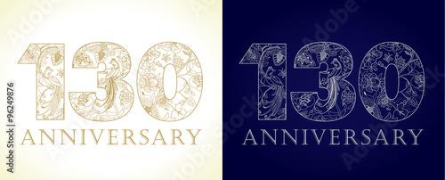Fotografia  130 anniversary vintage logo