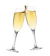 Leinwanddruck Bild - Cheers! Two champagne glasses