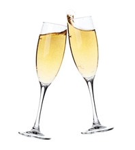 Cheers! Two Champagne Glasses
