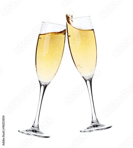 Fotografie, Obraz  Cheers! Two champagne glasses