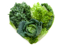 Heart Shape Green Vegetables