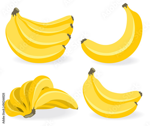 Foto Fresh banana fruits