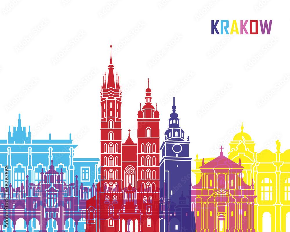 Fototapety, obrazy: Krakow skyline pop