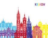 Krakow skyline pop