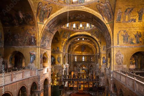 Fotografie, Obraz  Dettagli dell'interno della Basilica di San Marco, Venezia, Veneto, Italia