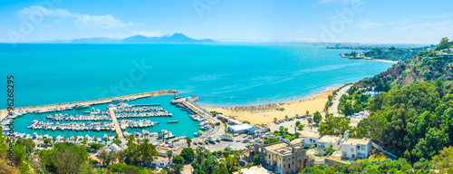 Foto auf AluDibond Tunesien The haven of Sidi Bou Said