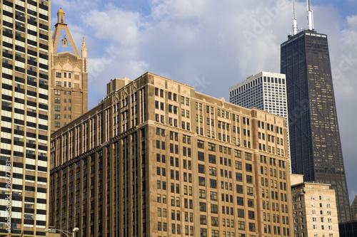 Valokuva  Chicago - buildings along Gold Coast