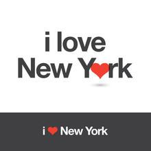 I Love New York. City Of United States Of America. Editable Logo Vector Design.