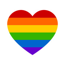 Gay Marriage Rainbow Heart Fla...