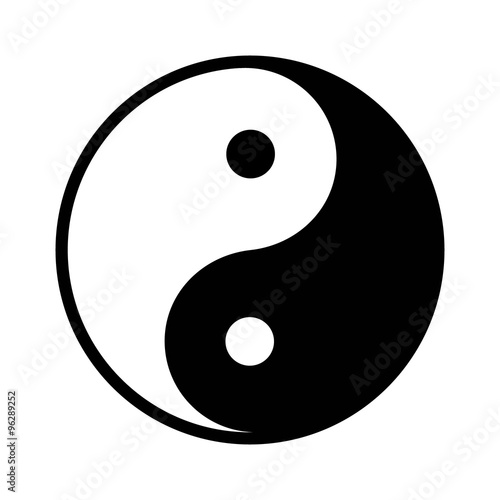Fotografering  Ying yang balance flat icon for apps
