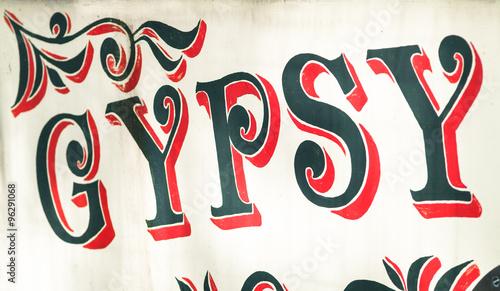 Photo  Gypsy Sign