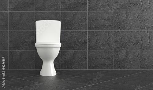 Photo  bathroom with shale tiles